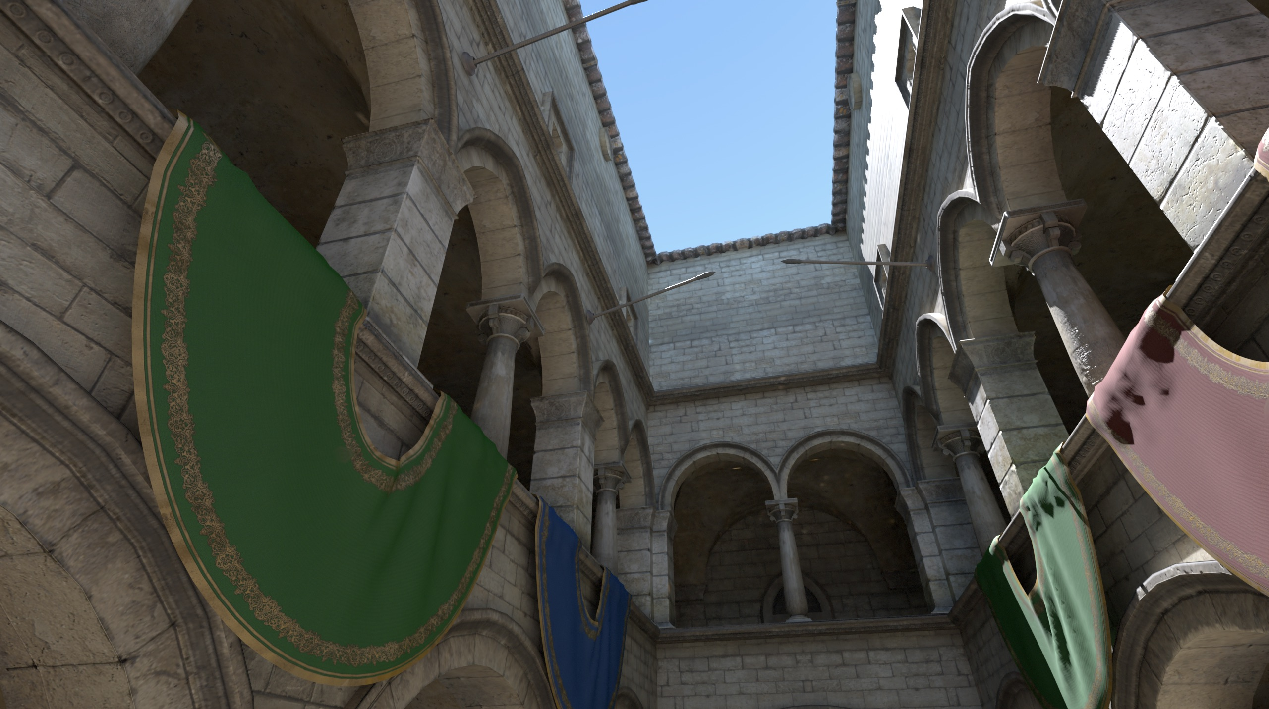 Sponza rendered using a hemispherical Ambient Dice lightmap for diffuse and specular
